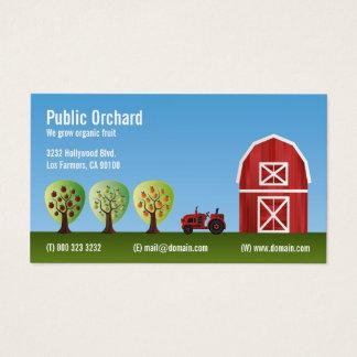 Cartão De Visitas Cultivadores do produto da fruta do pomar