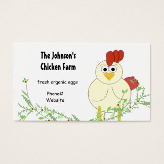 Cartão De Visitas Cultivo da galinha