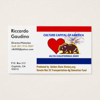 Cartão De Visitas CultureCapital-Impressão, Riccardo Gau… -