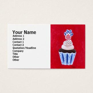 Cartão De Visitas Cupcake da bandeira dos Estados Unidos para