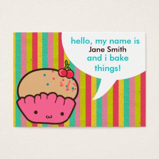 Cartão De Visitas Cupcake da cereja para padeiros