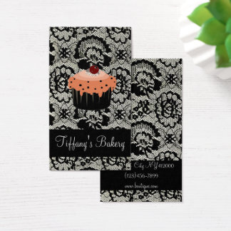 Cartão De Visitas Cupcake do padeiro da padaria do cozinheiro chefe