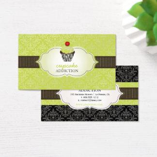 Cartão De Visitas Cupcake dos redemoinhos do keylime de