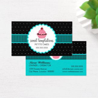 Cartão De Visitas Cupcake lunático da padaria
