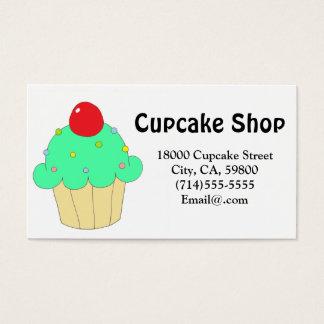 Cartão De Visitas Cupcake verde customizável