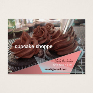 Cartão De Visitas cupcakes do chocolate