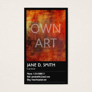 Cartão De Visitas Curador das belas artes