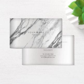 Cartão De Visitas Curso cinzento de mármore abstrato VIP da prata da