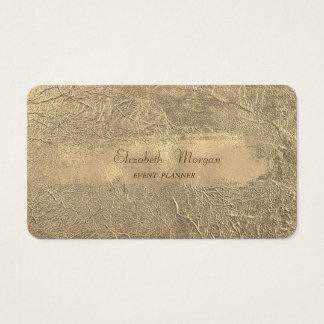 Cartão De Visitas Curso moderno à moda elegante da escova do ouro do