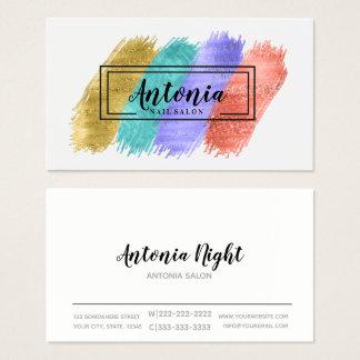 Cartão De Visitas Cursos coloridos da escova e quadro preto ID450