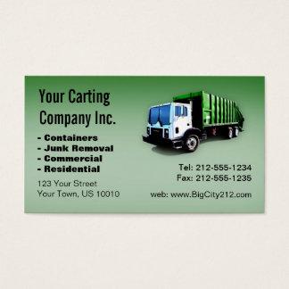 Cartão De Visitas CUSTOMIZÁVEL Lixo Caminhão Carting Empresa