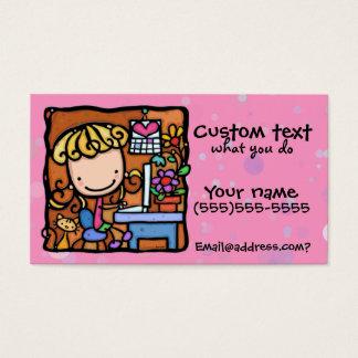 Cartão De Visitas Cutie PNK do guarda-livros do escritor do