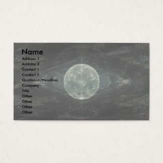 """Cartão De Visitas Da """"arte do Fractal da estação lua"""""""
