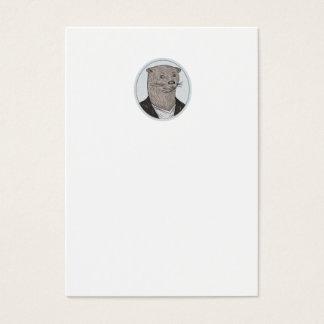 Cartão De Visitas Da camisa principal do blazer da lontra desenho