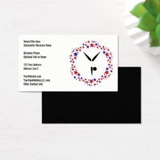 Cartão De Visitas Da ginástica branca vermelha do azul | do Gymnast