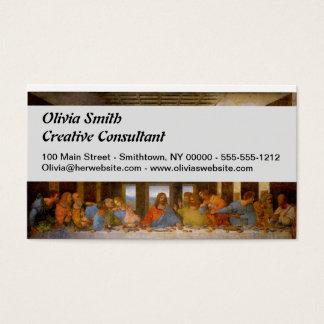 Cartão De Visitas Da Vinci a última ceia