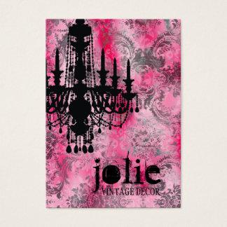 Cartão De Visitas Damasco das cinzas do rosa do candelabro do GC |