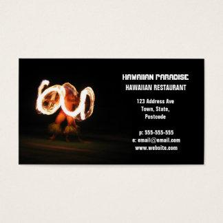 Cartão De Visitas Dança havaiana do fogo