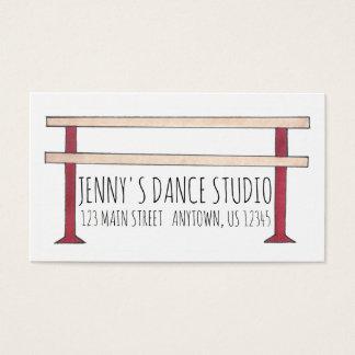 Cartão De Visitas Dançarino do estúdio do professor da dança da