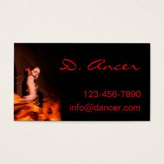 Cartão De Visitas dançarino do flamenco