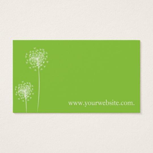 Cartão De Visitas Dandelion card