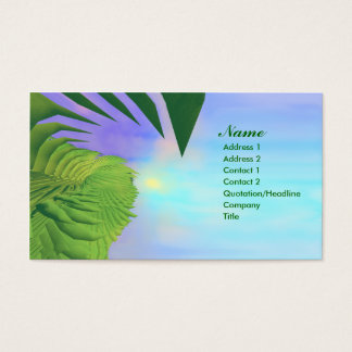 Cartão De Visitas Das palmas negócio acima -
