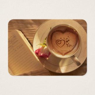 Cartão De Visitas Data do café