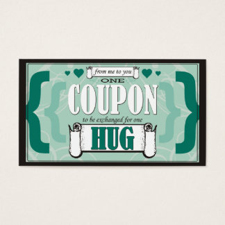 Cartão De Visitas De mim a você - um vale do abraço
