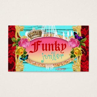 Cartão De Visitas Decoração Funky da remessa do Junker do GC