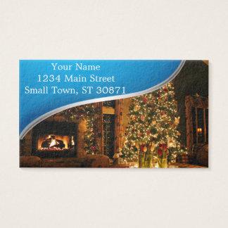 Cartão De Visitas Decorações do Natal - árvore de Natal
