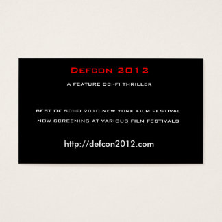 Cartão De Visitas Defcon 2012, um FILME POLICIAL da FICÇÃO