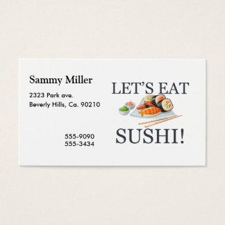 Cartão De Visitas Deixe-nos comer o sushi