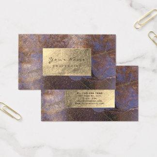 Cartão De Visitas Delicado botânico de cobre roxo sujo da folha de