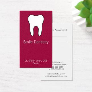 Cartão De Visitas Dente