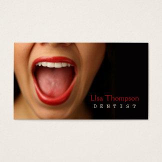 Cartão De Visitas Dentista/clínica médica dental do rosto humano da