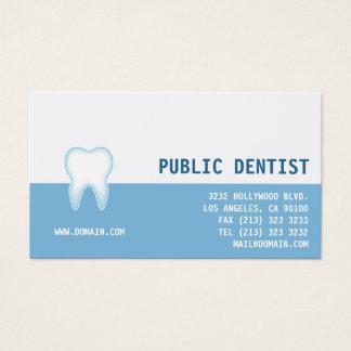 Cartão De Visitas Dentista dental elegante da clínica