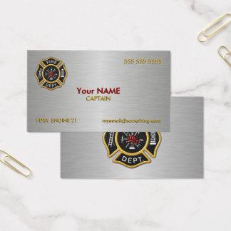 Cartão De Visitas Departamento dos bombeiros de luxe