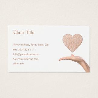 Cartão De Visitas Dermatologista branco simples - doutor de pele