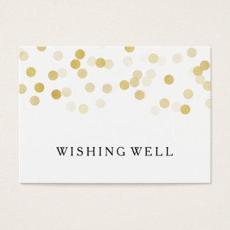 Cartão De Visitas Desejando luzes boas do brilho da folha de ouro