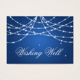 Cartão De Visitas Desejando o azul bem Sparkling da corda