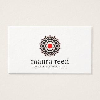 Cartão De Visitas Desenhista cor-de-rosa do chique da mandala do