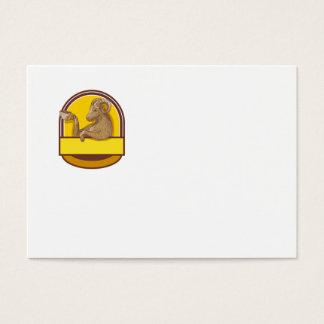 Cartão De Visitas Desenho da crista do café do bebendo da cabra da