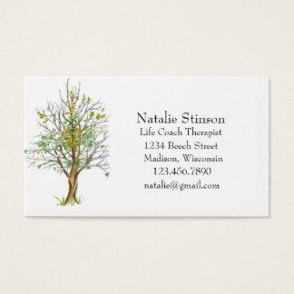 Cartão De Visitas Desenho da tinta da árvore do outono