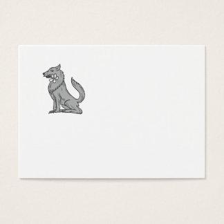 Cartão De Visitas Desenho de assento da flor do Plumeria do lobo de