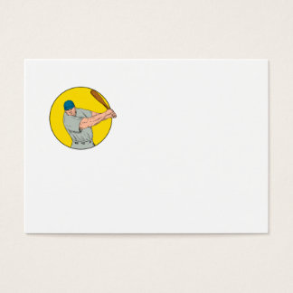 Cartão De Visitas Desenho de balanço do bastão do jogador de