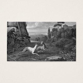 Cartão De Visitas Desenho do cão dos galgos italianos