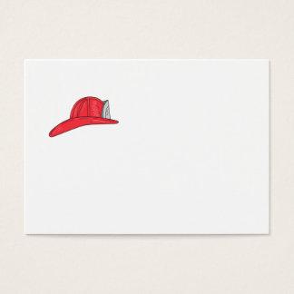 Cartão De Visitas Desenho do capacete do sapador-bombeiro do