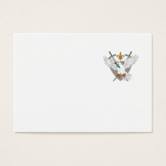Cartão De Visitas Desenho verde-oliva da crista da flor de lis da
