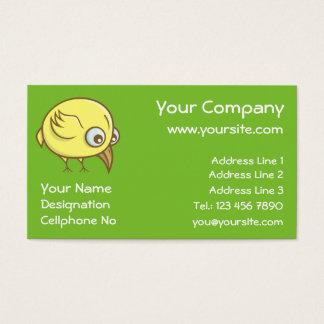 Cartão De Visitas Desenhos animados amarelos do pássaro
