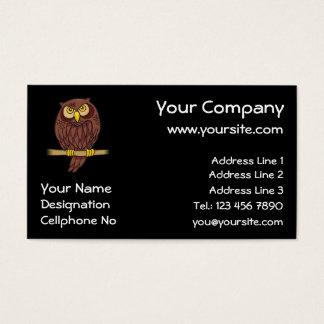 Cartão De Visitas Desenhos animados da coruja